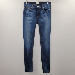 Hudson Nico Mid Rise Super Skinny Jeans Dark Wash